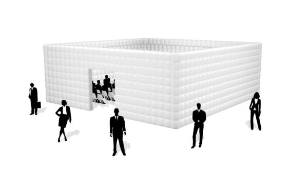 Aufblasbare Cube 10
