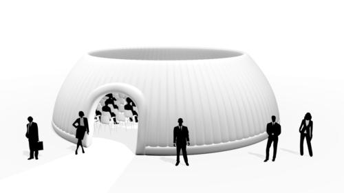 Aufblasbares Eventzelt Panorama Dome 12