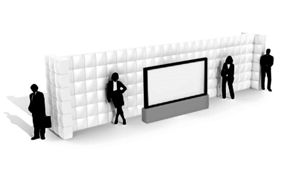 Gerade aufblasbare Wand 12m