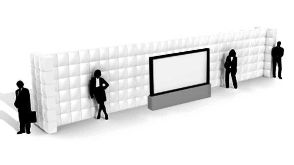 Gerade aufblasbare Wand 14m