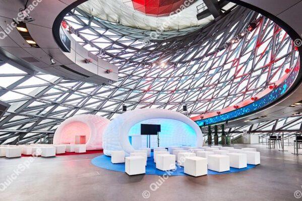 Aufblasbare Zelte BMW Welt Munchen